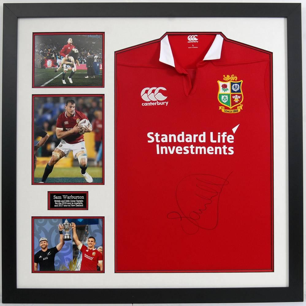 Lions Captain Sam Warburton OBE Signed Shirt