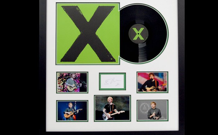 Ed Sheeran Signed Display
