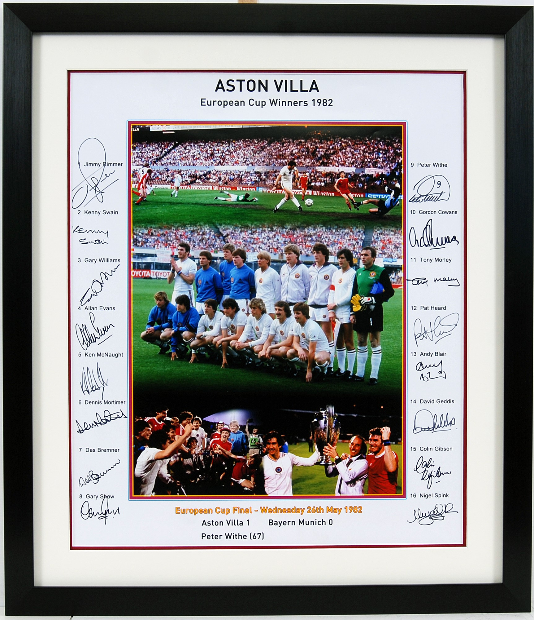 Aston Villa Signed Display